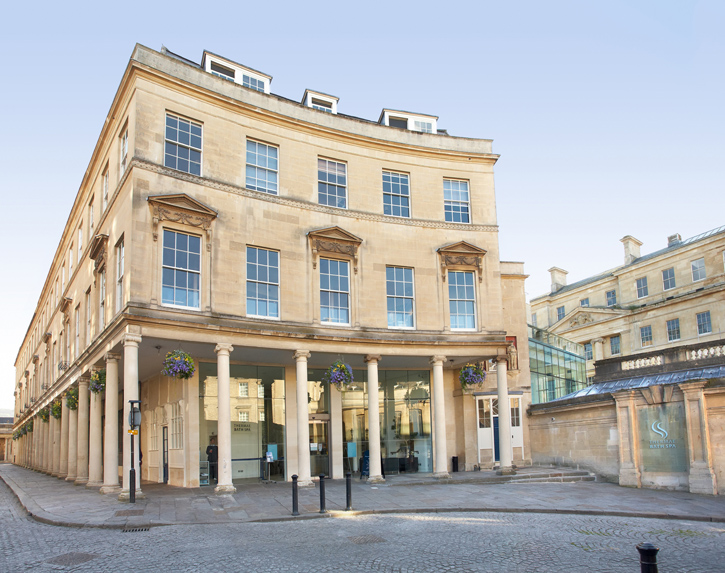The entrance of the Thermae Bath Spa