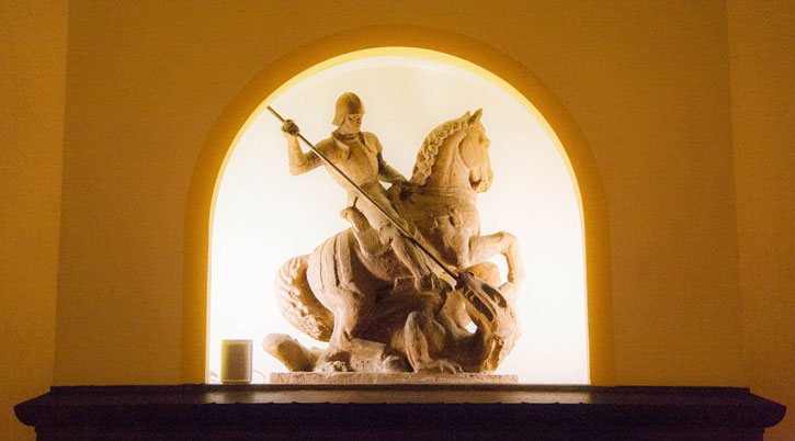 The model of St George slaying the dragon.