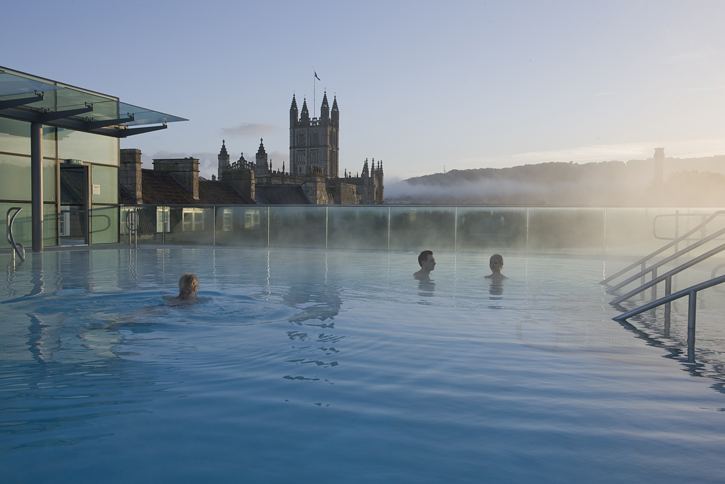 Thermae Bath Spa - open air pool (outdoor image – courtesy of Thermae Bath Spa).