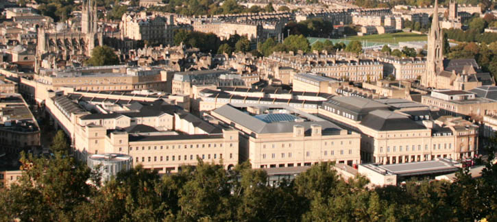 Southgate Bath – A new shopping centre opened in November 2009.