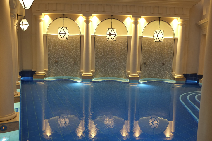 Views of one of the pools of the Gainsborough Bath Spa.