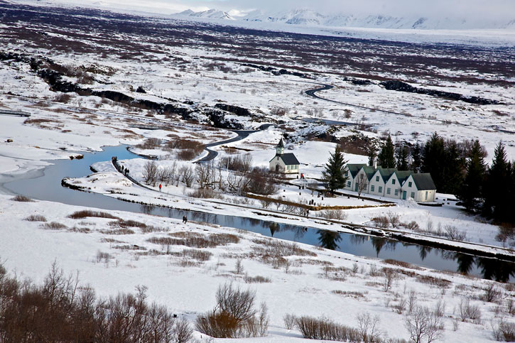 The 1st stop of The Golden Circle – The rift valley on which Iceland is straddled on both the North American and Eurasian continental plates in the Pingvellir National Park. It is also the site of the first parliament of Iceland established in the year 930.