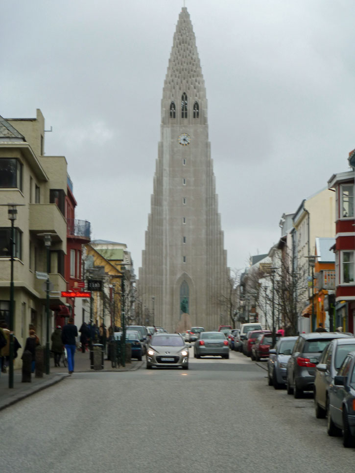 The Reykjavik Cathedral dominates Reykjavik, the capital of Iceland. Back to reality – Iceland has a modern and busy city.