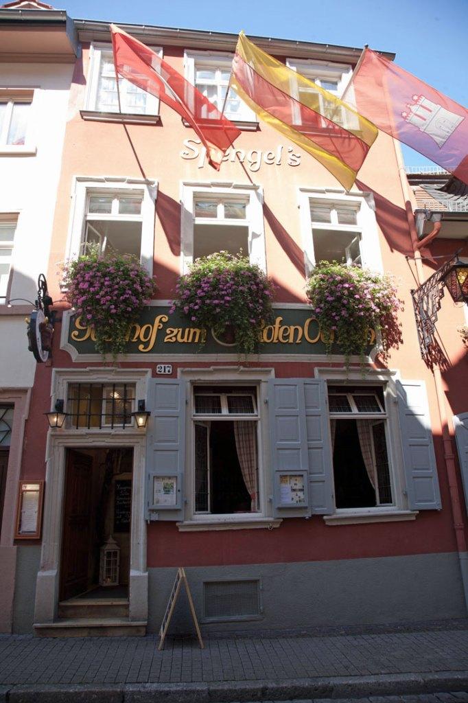 "The entrance to the Red Ox Inn or ""Zum Roten Ochsen"" in Heidelberg."