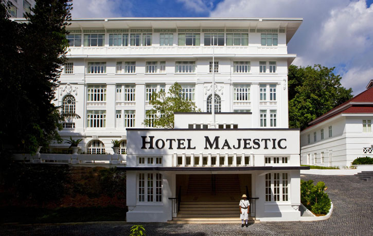 The original entrance of the Majestic Kuala Lumpur - Courtesy of YTL Hotels