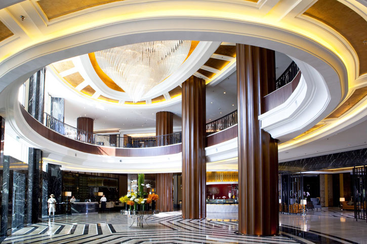 The beautiful art deco lobby of the Tower Wing of Majestic Hotel Kuala Lumpur - Courtesy of YTL Hotels