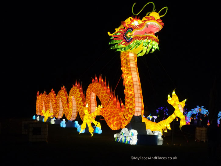 The Chinese Dragon Lantern – The Dragon is the symbol of the Chinese.