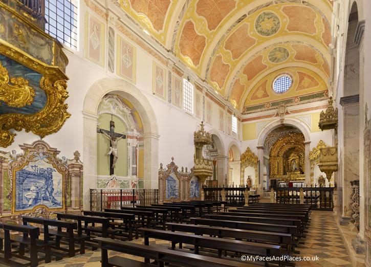 The beautiful church in Convento do Espinheiro