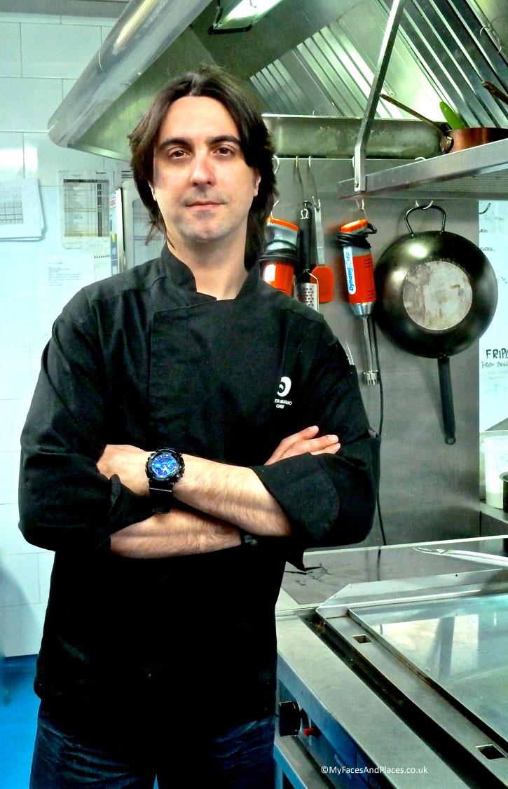 Chef Javier Moreno at Palacio Del Bailio