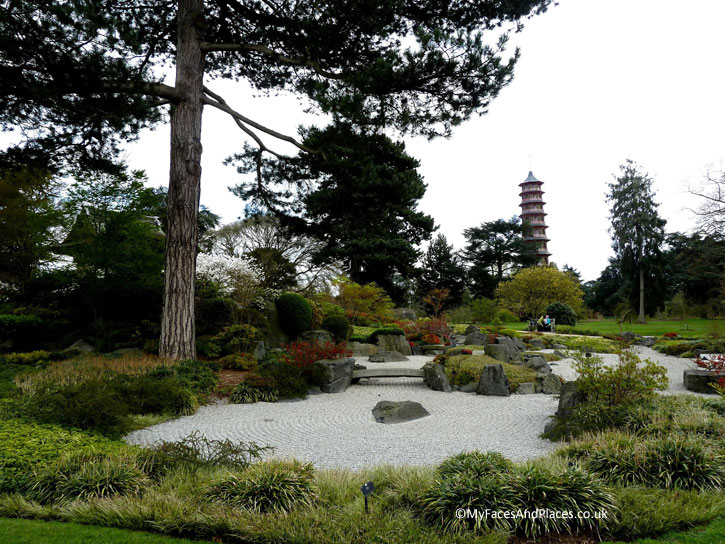 The Japanese Garden of Peace and Harmony in Kew Gardens.