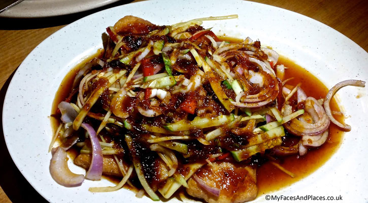 Hainanese Delights Restaurant - Rojak (a Malaysian/Singaporean fruit and vegetable salad with prawn sauce)
