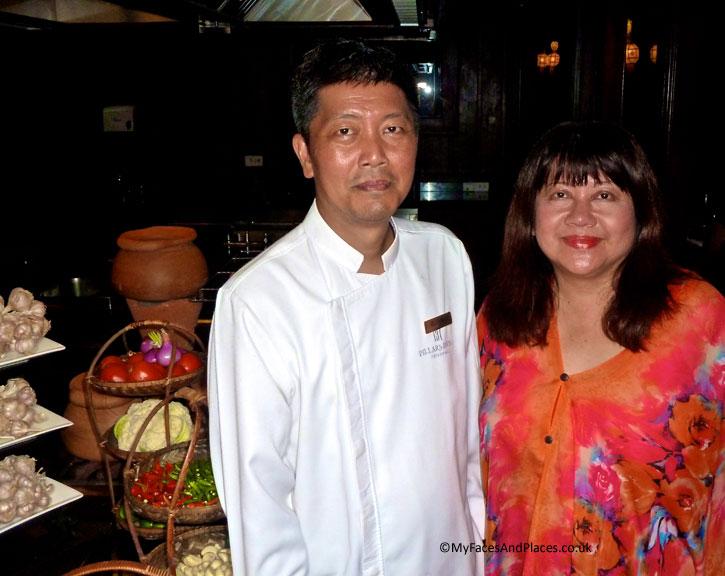 Chef Thiti Thammanatr and Helen in 137 Pillars House