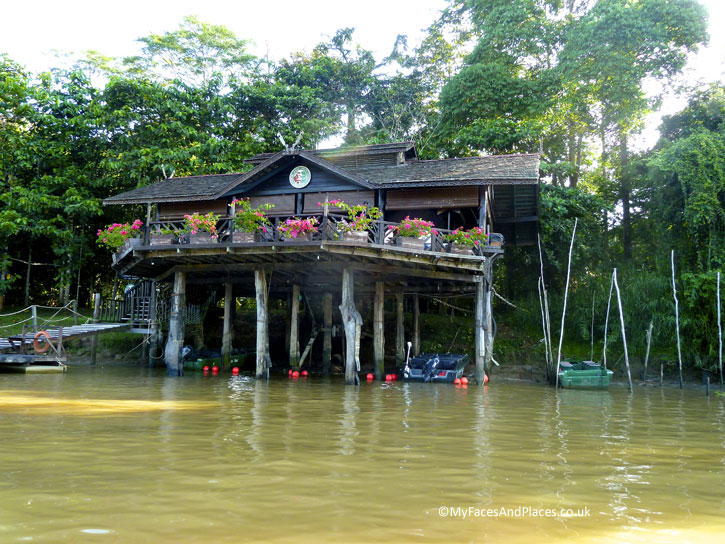 The riverside restaurant at Sukau Rainforest Lodge. Albert Teo - A Man With A Green Mission