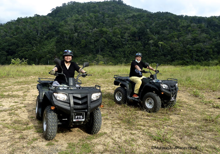 Helen and Michael on Quad bikes. Albert Teo - A Man With A Green Mission