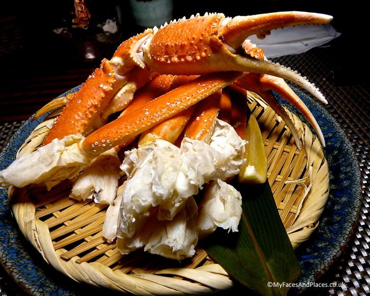 Snow crabs are in season in autumn -autumn in Niseko