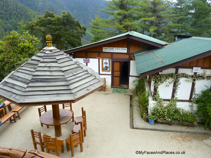 Taktsang Cafeteria serves food and beverages for tired climbers - Bhutan Tiger's Nest