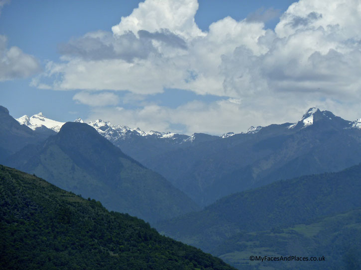 The breath-taking vista of the Black Mountains in the Himalayas - Bhutan the Beautiful