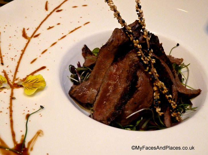 Wagyu beef in red wine and black pepper sauce in Chai Wu @ Harrods.
