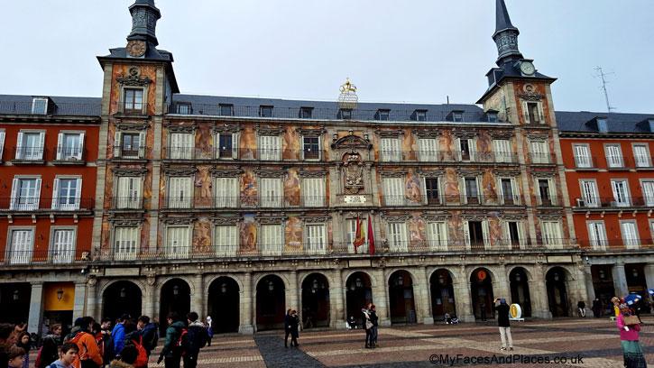 Casa de la Panaderia building with its beautiful frescos at Plaza Mayor