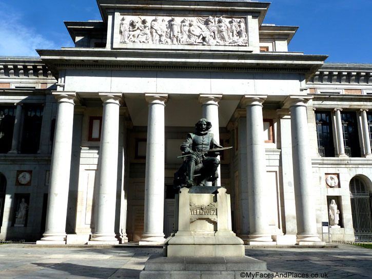 The statue of Velazquez at the Prado Museum