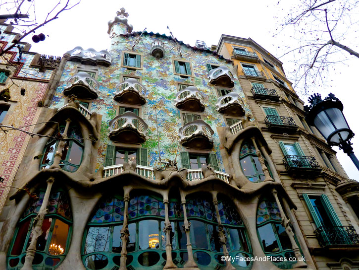 One of Gaudi's masterpieces the Batlló in Barcelona, Spain