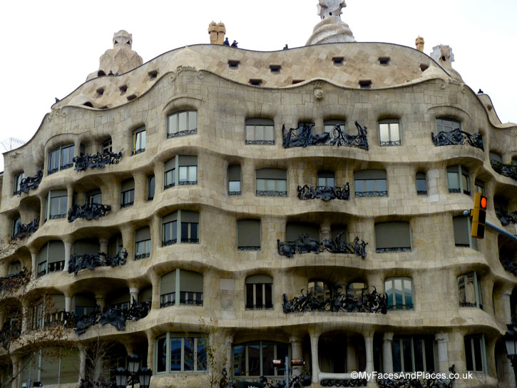 Gaudi's last design of a private home the Casa Mila aka La Pedrera in Barcelona, Spain