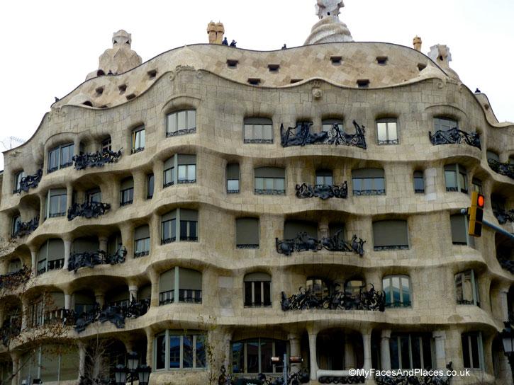 Gaudi's last design of a private home the Casa Mila aka La Pedrera in Barcelona, Spain