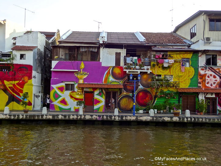 Colourful street art depicting culture and life of Malacca