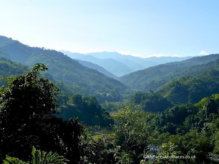 The magnificent view of the valley at Kiulu Farmstay in Sabah