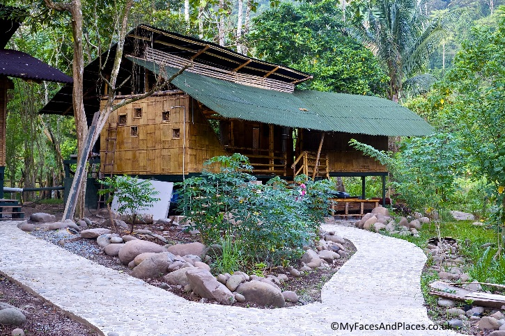 The Fig Tree bamboo guesthouse at Kiulu Farmstay in Sabah