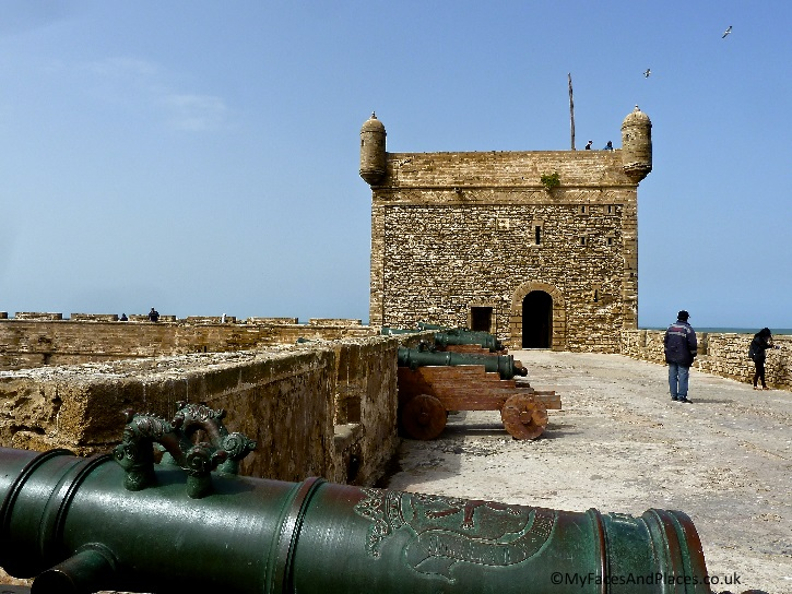 The Skala de la Kasbah an 18th century fortress with ancient canons