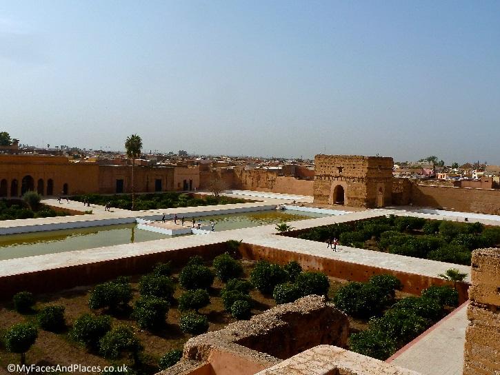 The sunken gardens of the 16th century Badia Palace