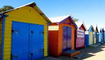 Iconic Beach Boxes at Brighton Beach