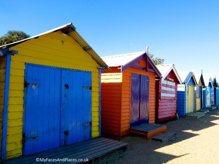 Iconic Beach Boxes at Brighton Beach