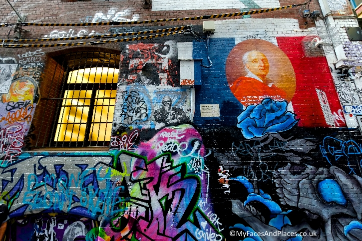 Street and graffiti art in Hosier Lane