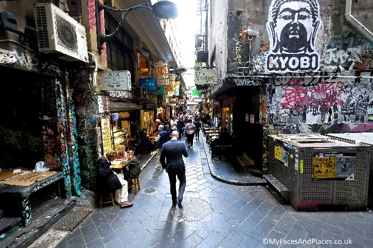 Narrow laneways with quirky shops and cafes