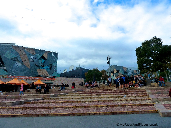 The happening place at Federation Square