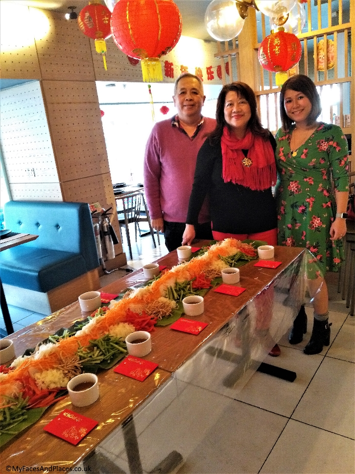 Ping Coombes with Helen and Michael Oon at Chi Kitchen