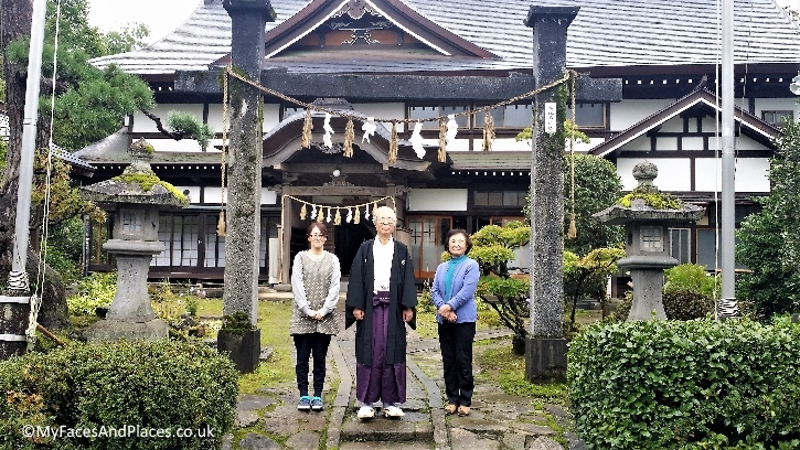 Our gracious landlord and his family at the Shukubo temple lodge at Mt Haguro