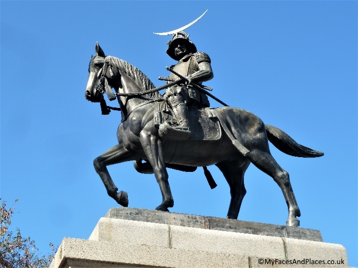 The equestrian statue of the fearsome samurai Lord Date Masamune