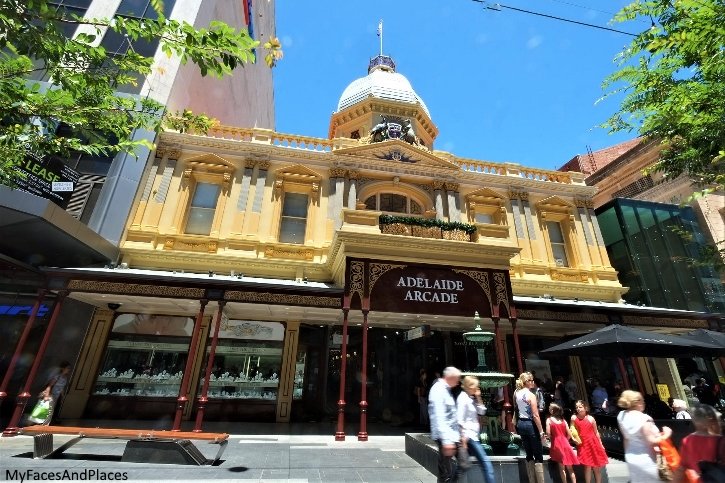 The Adelaide Arcade is one of the many beautiful colonial buildings in the city