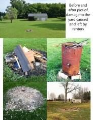 damage to the yard