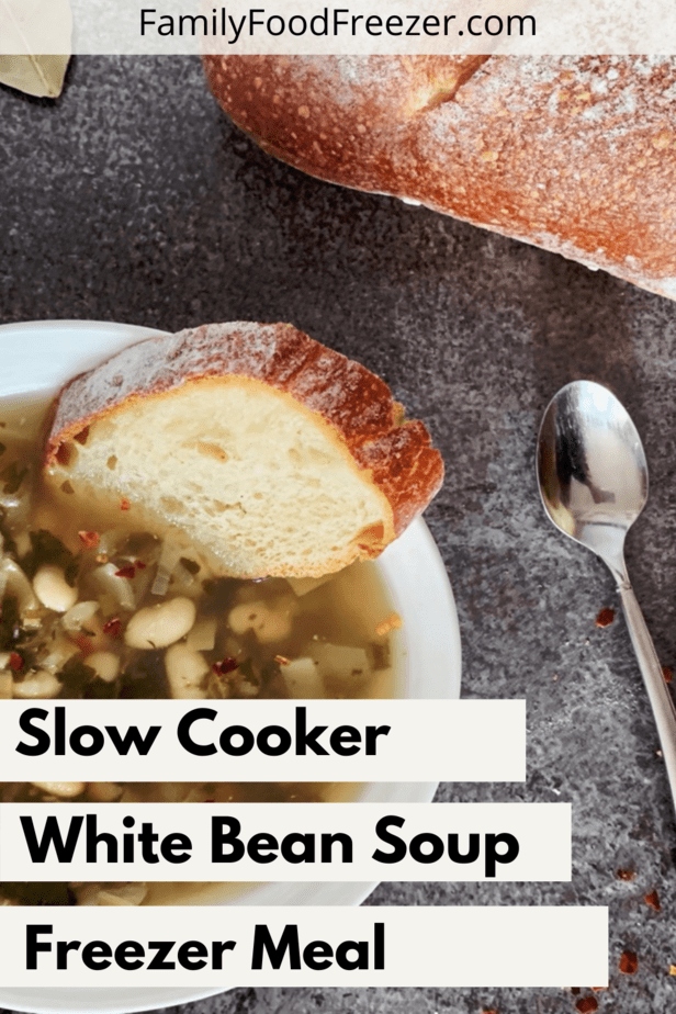 white bean soup | white bean soup with sausage | white bean soup with kale | white bean soup with ham | white bean soup vegetarian | white bean soup slow cooker