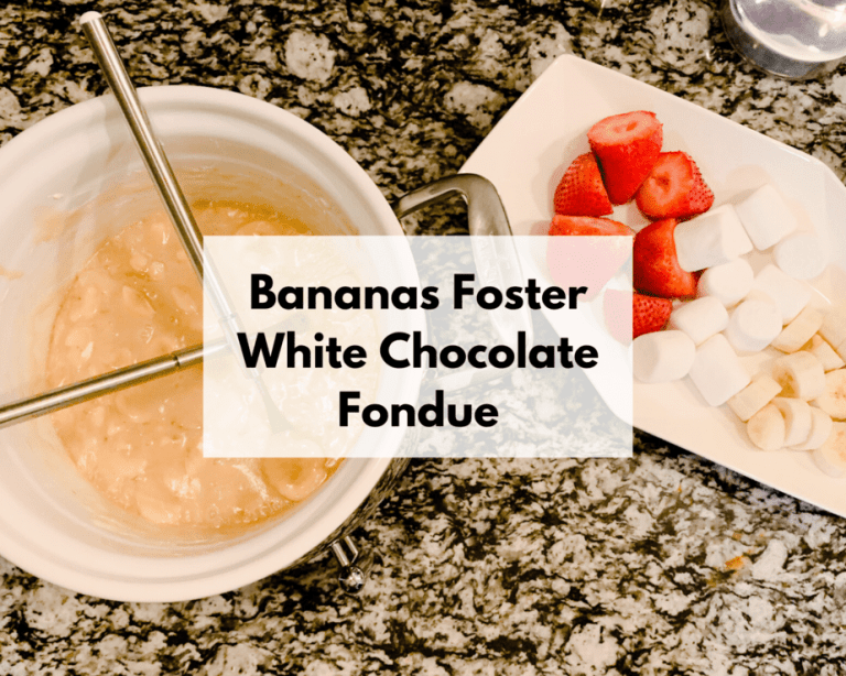 Bananas Foster White Chocolate Fondue