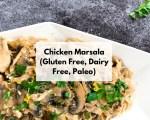 Creamy Chicken Marsala | Slow Cooker Chicken Marsala | Dairy Free Chicken Marsala | Chicken Marsala Recipe