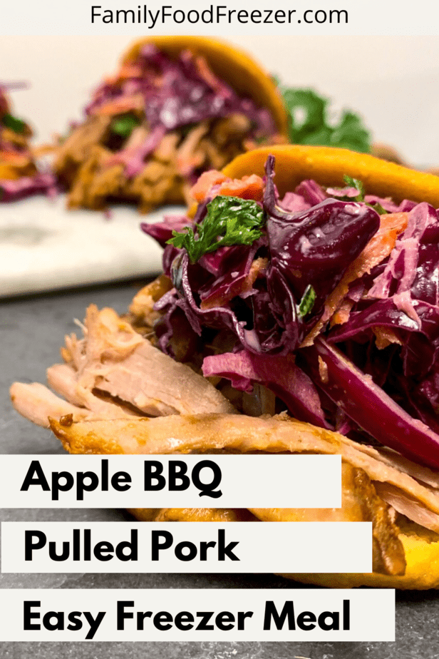 Apple BBQ Pulled Pork | Freeze Pulled Pork | How to freeze pulled pork | apple bbq sauce | apple bbq sauce pulled pork | apple pulled pork | Slow cooker pulled pork | pulled pork recipe
