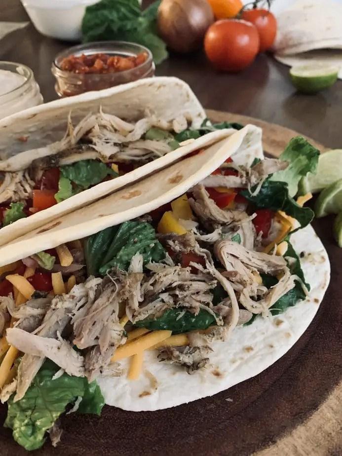 Healthy Ranch Chicken Tacos