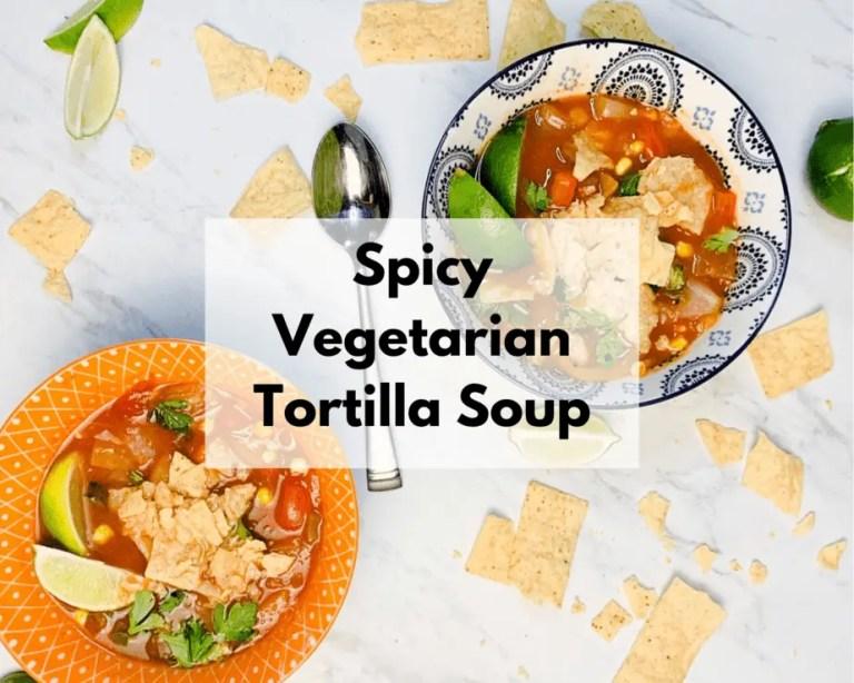 Spicy Vegan Tortilla Soup