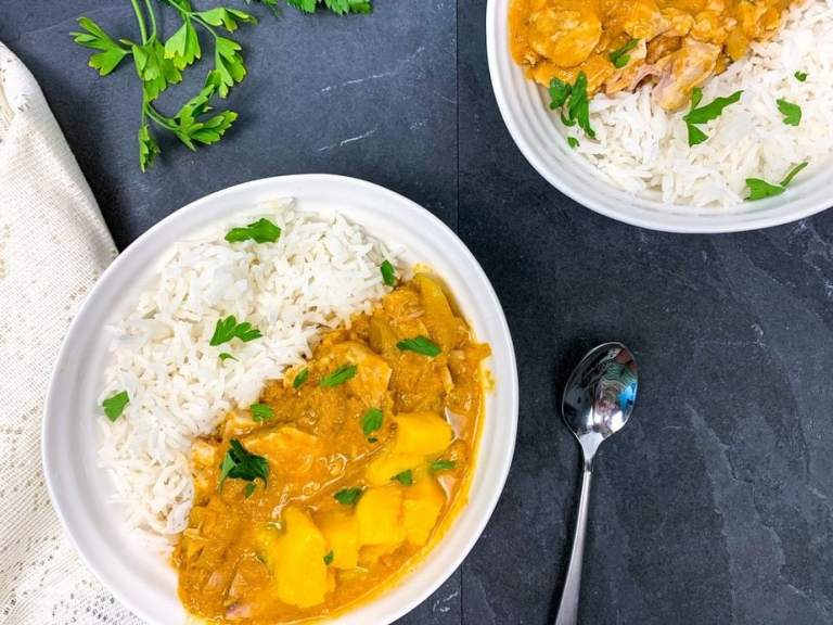 Mango Curry Chicken Slow Cooker Freezer Meal