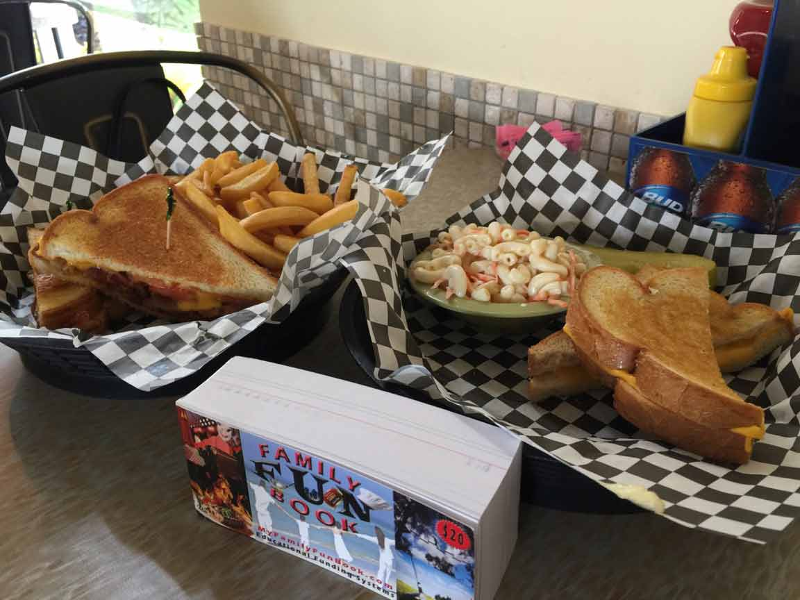 Rossi's Dinner food recived with coupon in The Family Fun Book - Port Orange Florida